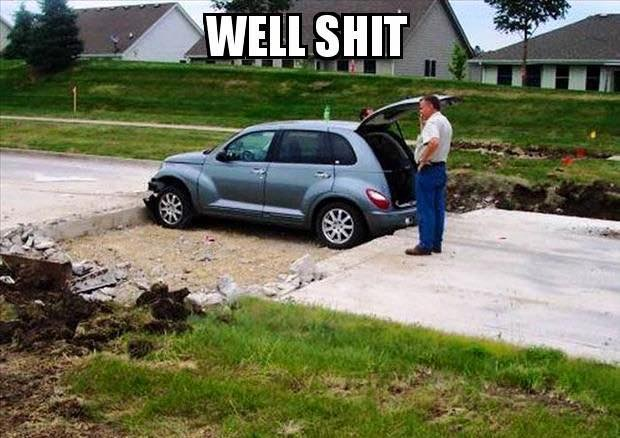 Funny-memes-best-memes-popular-memes-well-shit-meme-stuck-car