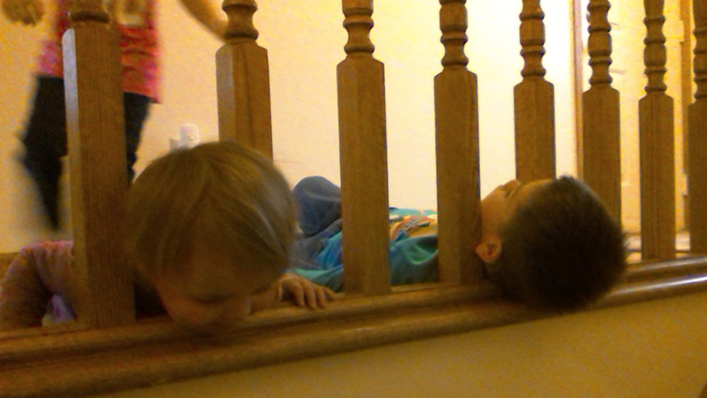 children-stuck